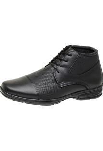 Sapato Botinha Social Couro Dia A Dia Cristaishoes Preto