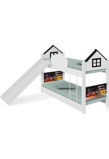 Beliche Infantil Casa Veloz Com Escorregador Casah - Branco/Preto - Menino - Dafiti