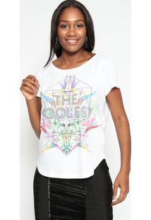 """Camiseta """"Coolest""""- Branca & Verde- Tritontriton"""