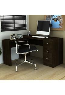 Mesa Para Escritório De Canto Me4101 Tabaco - Tecno Mobili