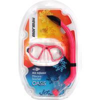 Kit Mormaii Máscara E Snorkel Oasis Infantil - Unissex 33b93b5320