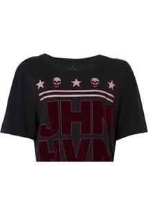 Camiseta John John Logo Feminina (Preto, M)
