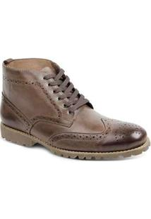 Bota Dress Boot Masculina Sandro Moscoloni Usa Marrom Brown