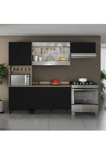 Cozinha Compacta Itamaxi 9 Pt 3 Gv Preta E Castanho