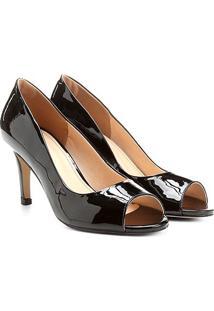 Peep Toe Shoestock Básico Verniz - Feminino
