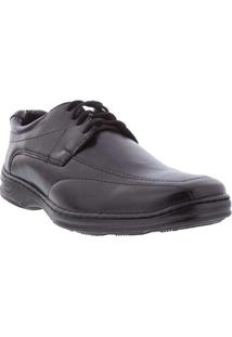 Sapato Social Valença Detalhe Em Pespontos Preto P