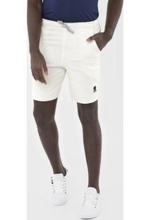 Bermuda Polo Wear Reta Desfiada Off-White - Off White - Masculino - Algodã£O - Dafiti