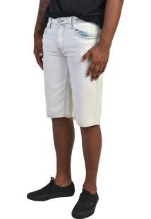 Bermuda Jeans Sarja Yck'S Branca Cintura Média