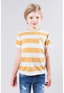 Camiseta Mini Sm Reserva Mini Masculina - Masculino-Branco+Amarelo