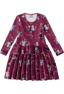 Vestido Evasê Frozen Ii® Malwee Kids