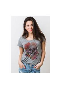 Camiseta Feminina Mirat Coroa De Flores Mescla