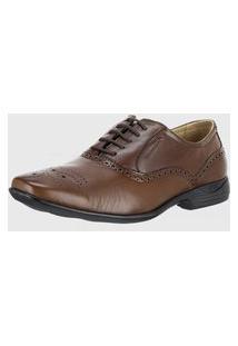 Sapato Social Sapatoterapia Anatomico Confortável Leve Couro 42001 Sapato Terapia Solado Massageador Marrom