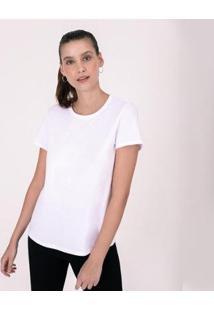 Camiseta Reta Feminina Gola C - Feminino