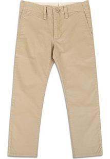 Calça Infantil Sarja Gap Fashion - Masculino-Cáqui