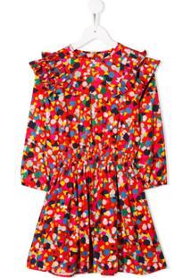 Stella Mccartney Kids Vestido Com Estampa Geométrica - Vermelho