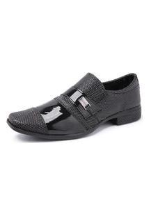 Sapato Social Masculino Verniz 734 Preto