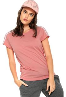 Camiseta Adidas Performance Ess 3S Slim Rosa