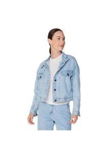 Jaqueta Hering Jeans Em Algodão Azul