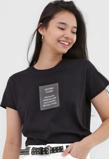 Camiseta 2Nd Floor Reckless Preta
