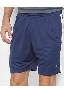 Short Lupo Runner Masculino - Masculino-Azul Escuro
