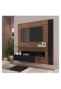Painel Para Tv 65 Pol Estilare Est201 1 Porta Madeirado E Preto
