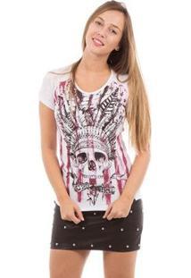 Camiseta Aes 1975 Skull Cook Feminina - Feminino-Branco