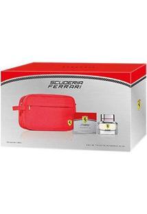 Kit Scuderia Ferrari Maculino Eau De Toilette 40Ml Necessaire