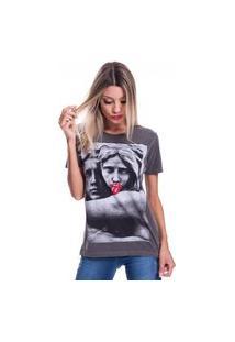 Camiseta Jazz Brasil Estatua Preto Estonado
