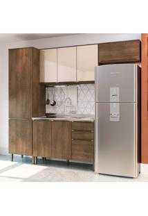 Cozinha Compacta Áustria Ii 8 Pt 3 Gv Marrom