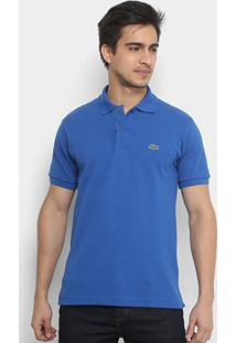Camisa Polo Lacoste Piquet Original Fit Masculina - Masculino-Azul Navy 3650b2226dd1f