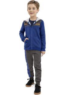 Conjunto Jaqueta E Calça Azul