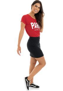 T-Shirt La Mandinne Paris Vermelha