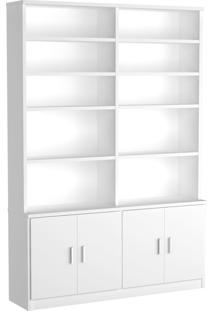 Estante Livraria 4 Portas 1283 Branco M Foscarini - Tricae