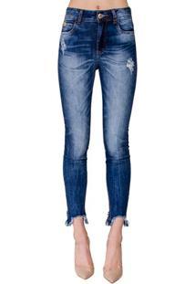 Calça Jeans Bia Barra Assimétrica Colcci