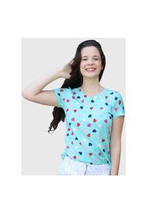 Camiseta Coração Azul D Bell