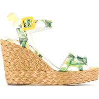 3693c1e63 Dolce & Gabbana Sandália Anabela Estampada - Amarelo