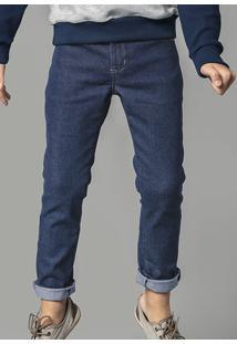 Calça Jeans Infantil Menino Com Lavação Escura Hering Kids