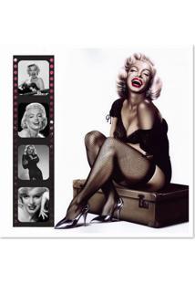 Quadro Marilyn Desenho Uniart Colorido 45X45Cm