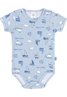 Body Céu Bebê Menino Ribana - Masculino-Azul