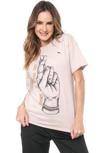 Camiseta Lez A Lez Apricot Rosa