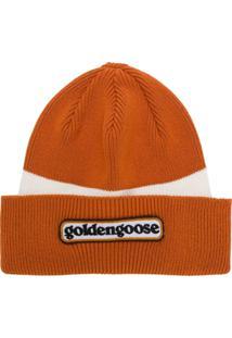 Golden Goose Deluxe Brand Gorro Com Logo - Laranja