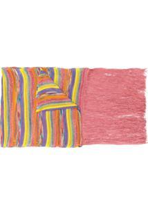 Missoni Cachecol De Tricô Com Padronagem Listrada - Rosa