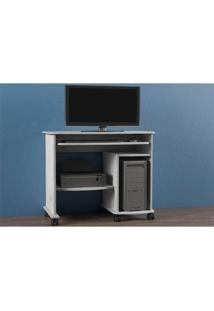 Mesa Para Computador Dalla Costa C211 Branco Brilho