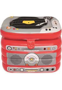 Cooler Inflável De 31 Litros Bestway Em Formato De Rádio Com Fechamento Superior E Estrutura Resistente - Kanui