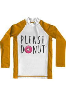 Camiseta De Lycra Comfy Please Donut Amarela