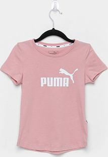 Camiseta Infantil Puma Ess G Feminina - Feminino-Rosa