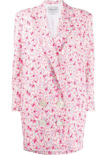 Carmen March Blazer Com Estampa Floral - Rosa