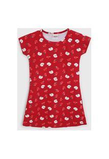 Vestido Elian Infantil Maçã Vermelho