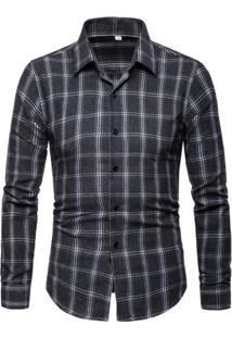 Camisa Xadrez Callander - Cinza Escuro