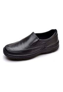 Sapato Social Pizaflex Conforto Preto